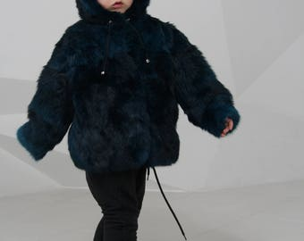 Children's fur coat, Warm Fur Jacket, Jacket For Children, children fur coat, Kids Jacket, kids fur coat, Winter Fur Jacket, rabbit fur coat
