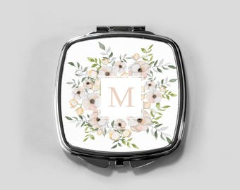 Personalized Compact Mirror, Bridesmaid Mirror, Compacts Bridal Shower Gifts Personalized Gifts for Women  Personalized Bridesmaid Gifts