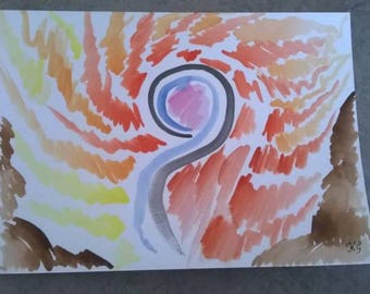 """A5 """"Sigil of Power"""" watercolour painting"""