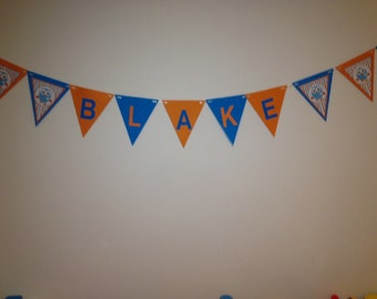 Personlised giggle and hoot bunting/banner