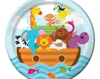 Friends of Noah's Ark dessert plates/ Noah's ark party theme