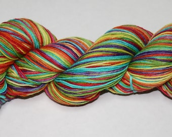 Be a Rainbow In Somebody Else's Cloud Self Striping Hand Dyed Sock Yarn