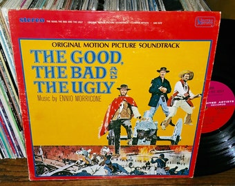 The Good The Bad and The Ugly Vintage Vinyl Motion Picture Soundtrack Record
