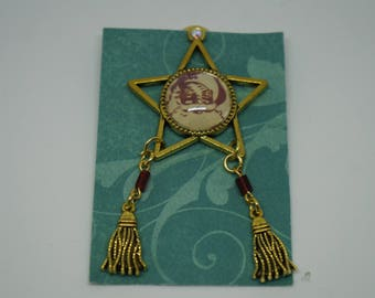 Unique, One of a kind Handmade Filipino Christmas Parol Pin (Ready to Ship)