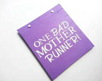 Race Bib Holder - One Bad Mother Runner - Hand-bound Book for Runners