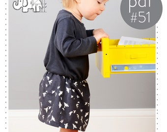 Baby dress pdf pattern // gathered waist // long and short sleeve option // photo tutorial // sizes 0M-6T // #51