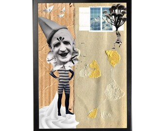 Art print poster collage DADA #3 in A3 (29, 7x42cm)