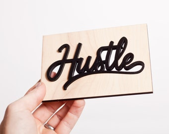 Mini Hustle sign / greeting card