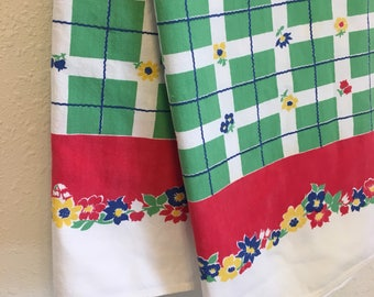 Vintage Tablecloth, Vintage Table Linens,