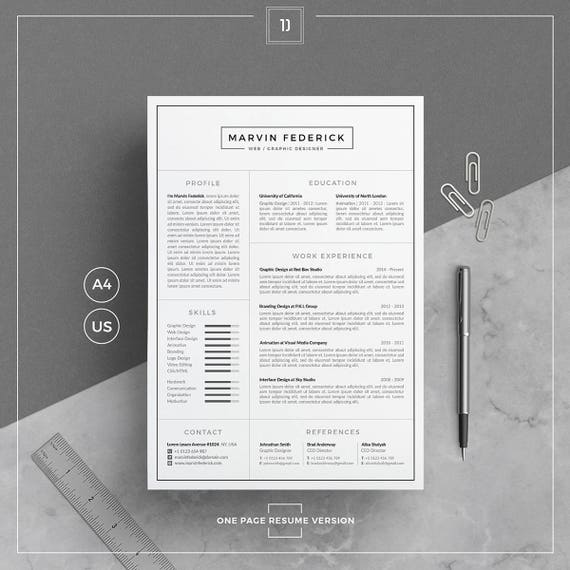 Resume Template/CV Template Cover Letter Business Card
