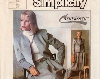 "Skirt Suit Pattern Womens Suit Career Suit SIMPLICITY 7685 UNCUT bust 34"" Pleated Skirt Pattern Skirt and Jacket Pattern Misses Suit Pattern"