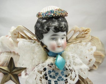 "Angel ""Susie Sells Seashells"" Assemblage Art Doll"