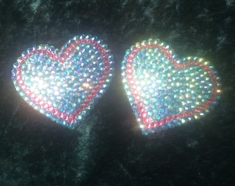 Turquoise & Pink Heart Pasties