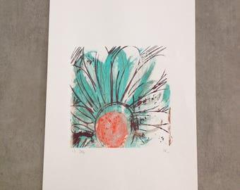 Floral love print