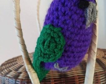 Little Amigurimi crochet sisserou Parrot