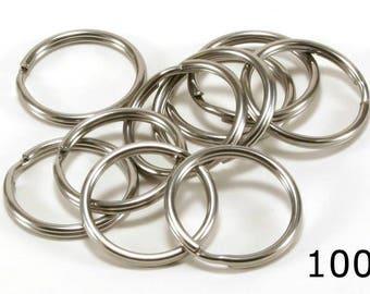 Stainless Steel SS 304 Key Rings Split Ring, Lot of 100