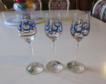 AUSTRIA KRISTALLGLAS PUHRINGER Cordial Liqueur Glasses