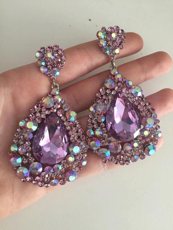 Lilac Prom Earrings