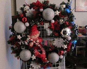 Handcrafted Whimsical Christmas Wreath