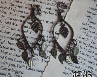 Mori Girl Leaf Earrings (Clip On)
