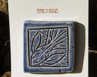 Decorative Ceramic Tile - Small Blue Fish
