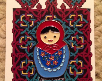 Matryoshka Doll Pin