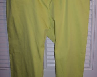 Pants 14, Haggar Cotton Pants, Lime, Smart Very Fine Vintage, Tags Still Attached see details