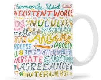 Grammar Police Mug Funny Grammar Mug Funny Coffee Mug Writer Mug Grammar Gifts Fake Words Writer Gift Grammar Mug Copywriter Gift Commas