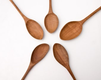 Hand Carved Wooden Spoon, Pear Wood Spoons, Large Cooking Spoons, One of a Kind Cooking Utensils Ed 14 No 142-146