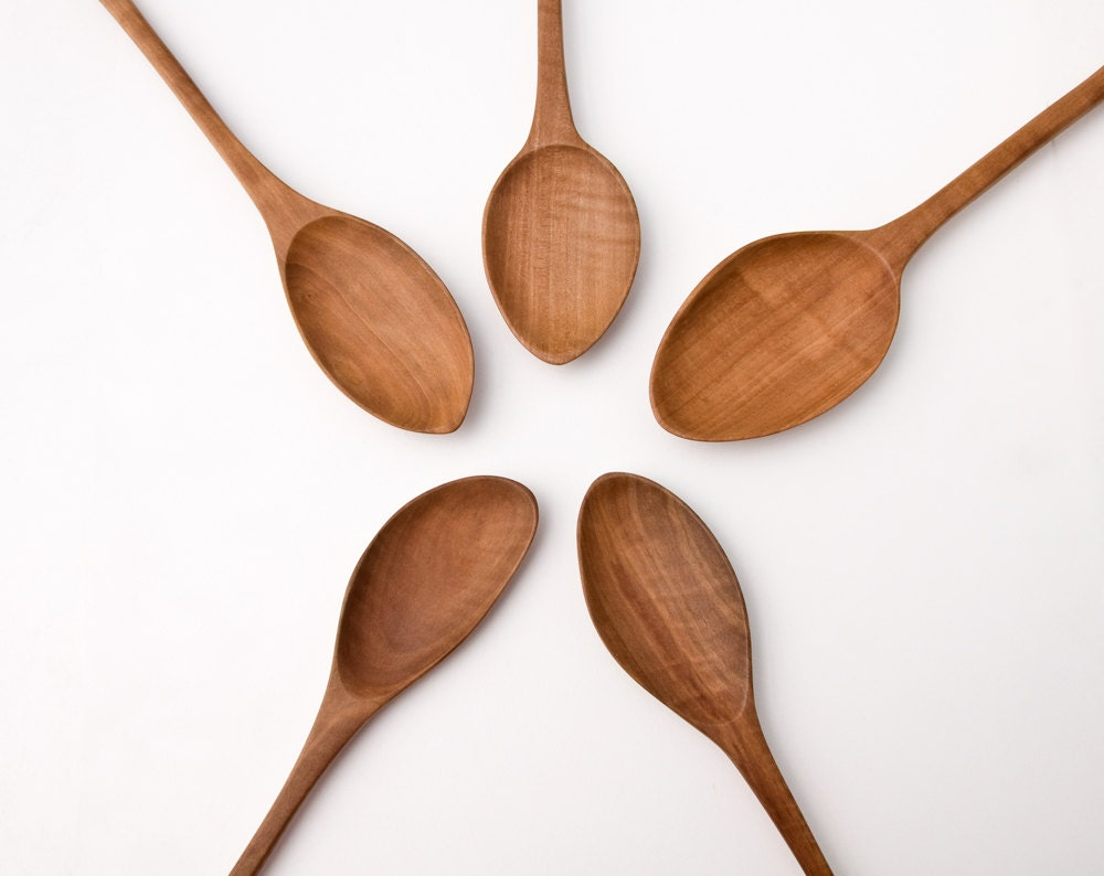 Hand Carved Wooden Spoon Pear Wood Spoons Large Cooking