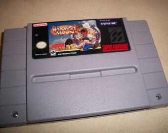 Harvest Moon Snes Super Nintendo Reproduction Game + New battery Holder + New Battery