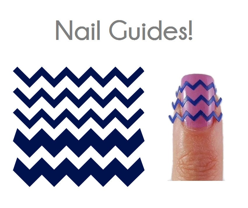 Chevron Vinyl Nail Guides