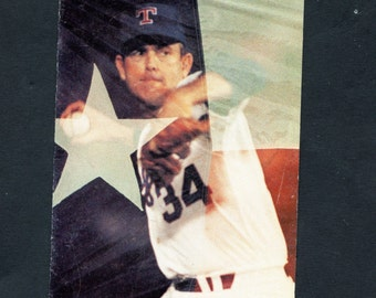 1992 Texas Rangers Nolan Ryan Coors Light Baseball Schedule Nice Shape