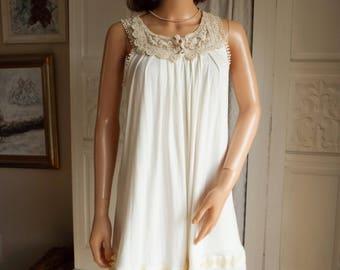 Unworn Cream lace dress Boho Dress Lace Dress Kawaii dress Vintage Floral Lace dress Ivory lace dress Boho Wedding dress Lace party dress