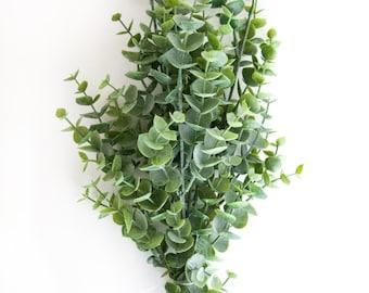 7 Artificial Eucalyptus Stems in Green - Artificial Flowers - ITEM 0361