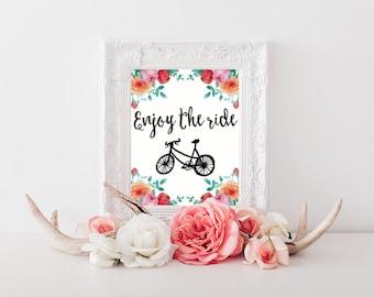 Enjoy the Ride Printable Wall Art