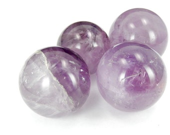 Amethyst Ball-- Round Amethyst Stone - Reiki - Metaphysical - Crafting - Crystal Grids - Includes Small Stand (RK63B2-01)