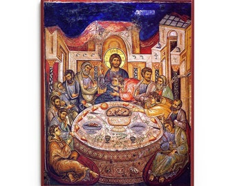 Mystical Supper (XIVc) Icon