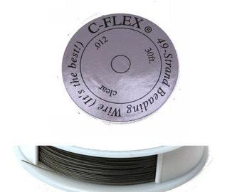 C-Flex Fine Beading Wire 30 Ft. Clear .012 Cflex Cord