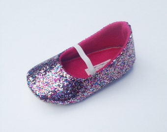 Toddler Girl Shoes Baby Girl Shoes Soft Soled Shoes Wedding Shoes Flower Girl Shoes Glitter Shoes Glitter Confetti Glitter Shoes - Eloise