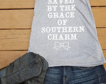 Saved by the grave of southern charm tank top