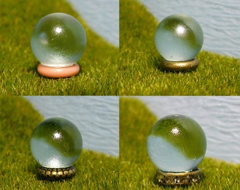 Fairy and Miniature Garden Gazing Balls - Pink, Gold, Fancy, and Sparkly Ground Stands - Tiny Outdoor Decor