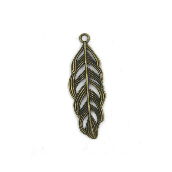 """Great charm - bronze """"Feather"""""""