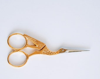 Golden swan scissors vintage style