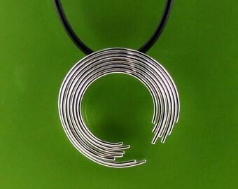 Sterling Silver Enso Circle Pendant