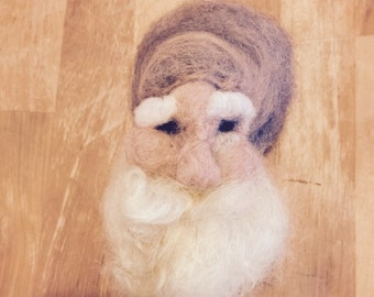 Vintage looking felted santa