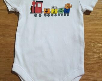 Choo Choo Train - Personalised Handdrawn Baby/ Kids Clothing