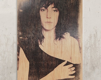 Patti Smith / / Transfer on wood