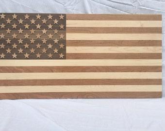 American Flag (Walnut, Maple, Cherry)