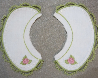 """Heart N Sole Embroidered collar suitable for Forties Style Doll Dress Pattern for 18"""" dolls"""